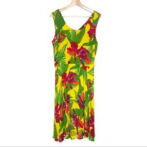 Amazing Condition VTG Carole Little Hawaiian Dress